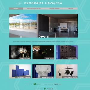 Toda la información del Programa de residencias UAVA/C3A en una web